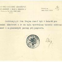 Potvzení o připravě popravčího Josefa Trojana (Národní archiv)