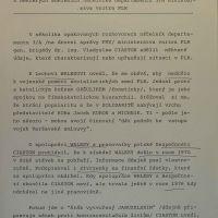 První strana zprávy z varšavské rezidentur FMV (ABS)